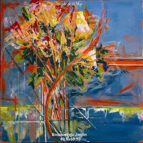Bouquet du Jardin 60.5x60.5cm $700