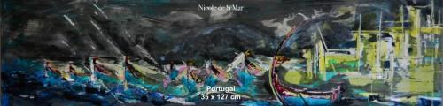 Portuguese Boats 35x127cm $500