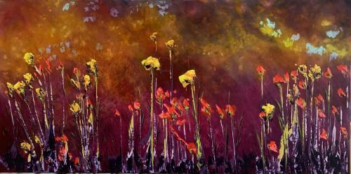 Twilight Meadow 77x153cm $1500