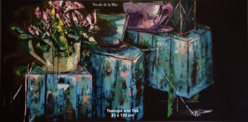 Teacups and Tea 83x159cm $900 SALE (was $1100)